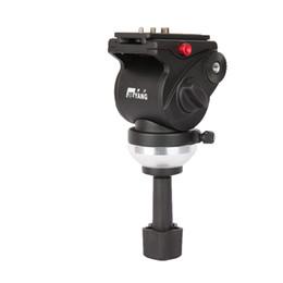 2019 trípodes panorámicos JY0508AH Cabeza de trípode para cámara de video / Cabeza hidráulica de Jieyang para deslizador / Panorámica hidráulica de diámetro del recipiente 65 mm rebajas trípodes panorámicos