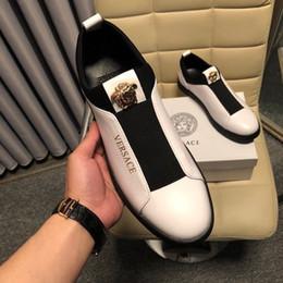Sangles d'étirement en Ligne-Tissu stretch blanc Lot de chaussures 2071 Hommes Chaussures habillées Mocassins Mocassins Dentelles Ups Sangles Bottes Pilotes Real cuir Sneakers Chaussures