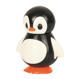Wholesale Cute Penguin Cartoons - Cute Penguin Twisted and Twitch Model Toy Cartoon Animal Baby Wiggle Toy Vocal Toys Random Color