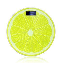 escalas colher atacado Desconto Escala de banheiro do peso de corpo de Digitas 400 libras Escala da gordura de corpo da forma do limão com grande exposição lcd retroiluminada fácil para mulheres