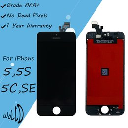 Wholesale Iphone 5s Replacement Screen White - Screen Replacement For iPhone 5G 5S 5C SE LCD Touch Display with Frame Digitizer Assembly Repair Parts Black White