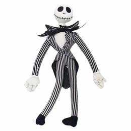 marrone husky cane Sconti 50cm The Nightmare Before Christmas Jack Peluche Stash Toy Funny Skull Jake Peluche Peluche Bambola Regalo di Natale Mascotte Presente Capodanno