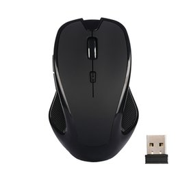 Wholesale Usb Removable - 2.4GHz Wireless USB Mouse Slient Button Computer Gaming Mouse 2400DPI Removable Battery For Computer Notebook