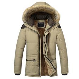 Wholesale Men Snow Coats - Big Size M-5XL Winter Jacket Men 2017 Long Warm Black Male Coat Down Jacket Parka Hee Grand Hooded Snow Cold Windbreaker WU94