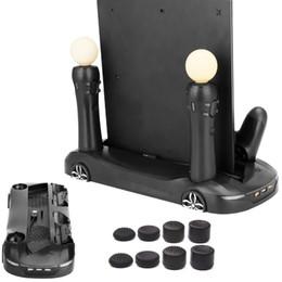 Контроллер перемещения онлайн-Для PS4 Slim Pro Move Car Design вертикальная подставка вентиляторы охлаждения двойной контроллер Move зарядная станция расширить концентратор + 8 шт. расширенные крышки