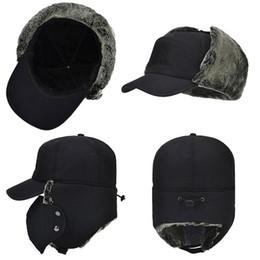 35aaa47b1088c Waterproof Super Warm Trapper Trooper Earflaps Bomber Faux Fur Lining Ski Hat  Cap Women Men Winter Hat Bomber