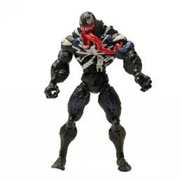 Argentina 2 diseño Venom Plastic Doll Toys New kids Avengers juego de dibujos animados Figuras de acción de superhéroes Modelo coleccionable de superhéroes 18cm KKA6135 Suministro