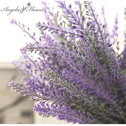 Lavande romantique en Ligne-Provence Romantique Décoration Fleur De Lavande Soie Fleurs Artificielles Simulation Décorative De Grain De Plantes Aquatiques