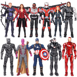 Giocattoli del partito di spiderman online-11 Styles Marvel Avengers Action Figures in PVC Movie Super Hero Iron Man Spiderman Captain America Figure Toys Christmas Holiday Party Gift