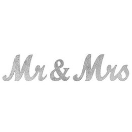 Wholesale Vintage Table Settings - Wooden Wedding Sign Mr & Mrs Fashion Table Decoration Cute Sweetheart Large Slid Sign Set Romantic Vintage Mariage Photo Props