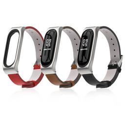 Argentina EIMO Pulsera de cuero para Xiaomi Mi Band 3 Pulseras de repuesto Pulseras Correa para reloj Xiaomi Mi band3 Accesorios Cinturón cheap wrist watch accessories Suministro