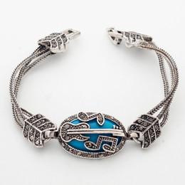 ethnischen vintage silber armband Rabatt ganze saleYunkingdom Geschenke Heiße Vintage Charme Armbänder Frauen Tibet Silber Totem Armbänder Böhmische Ethnische für Frauen YUN0629