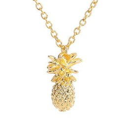040784b08 Fahion Design silver gold color Pineapple Pendant Necklace For Women Girl  Vintage Fruit Cute Link Chain Necklace Jewelry Accessories discount fruit  design ...