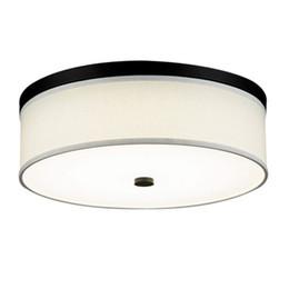 Luz de techo de dormitorio de tela redonda de LED Lámpara de techo de sala de estudio de American Simple Kid Lámparas de techo de sala de estudio desde fabricantes