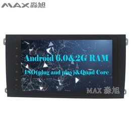 Wholesale Cayenne Black - Android 6.0 Car DVD Player for Porsche Cayenne 2003 2004 2005 2006 2007 2008 2009 2010 with Radio BT SWC GPS map