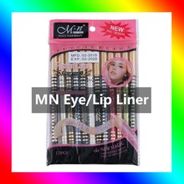 Wholesale Coloured Markers - 12Color Set Wooden Pole Eyeliner Gel Pen Eyeliner Marker Permanent Dazzle Colour make you fascinating and attractive