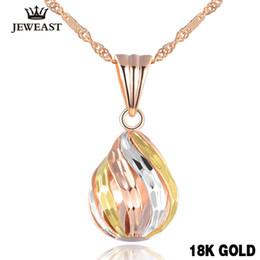 Perle di Lucky Popolare oro rosa 18 carati puro fascino del pendente solido donne ragazza elegante della moda di New Classic Design 2017 Benvenuto da