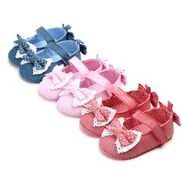 00c4efcfb14b8 bebe baby shoes Australia - Newborn Baby Girls Shoes Princess Cute Bow  First Walkers Crib Bebe