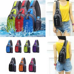 Wholesale external charges - USB Charging Chest Bag Nylon Single Shoulder Bags External Charging Student Cross body Travel Bag 7 Colors 50pcs AAA330