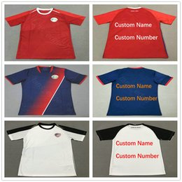 2018 Costa Rica World Cup Jerseys Customize 19 K.WASTON 12 CAMPELL 10 LA  COMADREJA Blank camiseta de futbol Soccer football uniform shirt 3159a011a