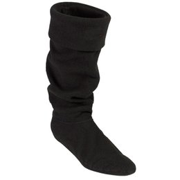 Wholesale High Heeled Short Boots - wellies boots socks liners short rainboot inner sock women girl knee low rain boot high socks welly socks