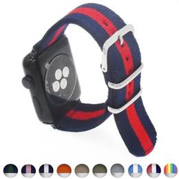 2019 браслеты zulu Нейлоновый браслет для Apple iWatch Watch 38 мм 42 мм Zulu Band Тканевый браслет наручные ремешок Черный Синий Коричневый Зеленое яблоко смотреть 4 дешево браслеты zulu
