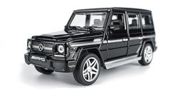 Wholesale vehicles mercedes benz - Alloy car model Mercedes Benz G65AMG children's toys cross country sound and light back door simulation vehicle model