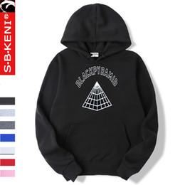 Capa roupa homem on-line-Pyramid Black Men Hoodie Moda Tops Brasão Preto Pirâmide roupa masculino moletom com capuz Mens Moletons Hoodies capa Hip hop