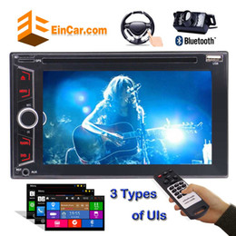 Wholesale dinning lights - Double Din Car dvd Stereo 6.2'' FM AM RDS Radio Video Audio Bluetooth Rear Camera 3 optional UIs USB Colorful Button Light