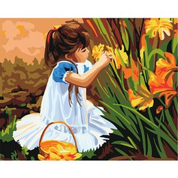 Wholesale Impressionist Drawings - 7 style available ! DIY Painting Adults Children's Paint by Number Kits Drawing for 40x50cm by LUHSICE