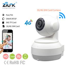 2019 tarjeta sim 4g gratis ZILNK 3G 4G Tarjeta SIM Móvil Cámara IP HD 720P Transmisión de video a través de 4G FDD LTE Netowrk Aplicación mundial gratuita para control remoto tarjeta sim 4g gratis baratos