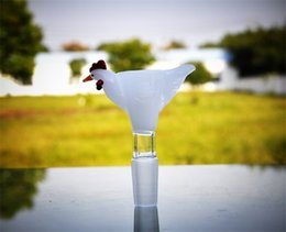 nouvelle pipe en verre extraterrestre Promotion La glissière en verre de perroquet glisse de beaux tuyaux d'eau en verre de qualité avec les bols en verre communs de 14mm pour des bongs