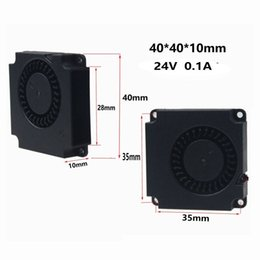 Wholesale Printer Computers - 2PCS Gdstime 40mmx40mmx10mm 4cm DC 24V 0.1A Mini Turbo Blower Cooling Cooler Fan For 3D Printer