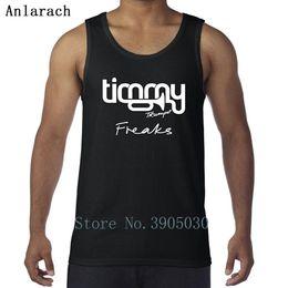 2019 homens do exército Timmy Trumpet Freaks Colete Muscle Fun Tanque de Impressão Original Para Homens Singlets Comical 2018 Anlarach 100% Algodão