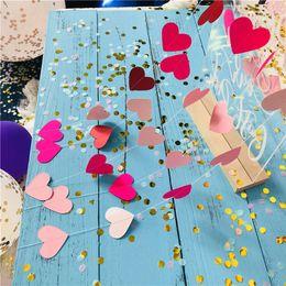 Sfondi di cuore online-1m Sweat Heart Paper Ghirlanda Pink Love Shape Hanging Ornament Wreaths Sfondo Decorazione a parete Decor per la festa di compleanno di nozze Decorativo