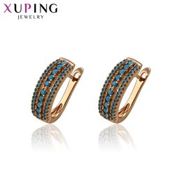 Wholesale Fashion Jewelry Deals - whole sale11.11 Deals Xuping Fashion Earrings Gold Color Plated Environmental Copper for Women Christmas Day Jewelry Gift S58-93382