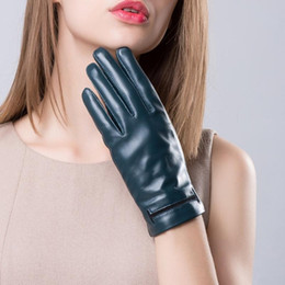 Wholesale Ladies Black Leather Gloves - YY8948 Special Novelty Hollow Out New Women Genuine Leather Thin Short Gloves Lady Dark Blue Dark Red Driving Luvas Feminina