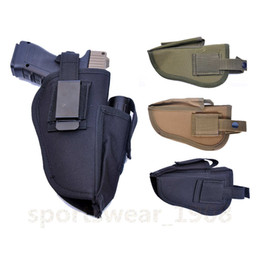 Wholesale Tactical Gun Pistol - Universal Hidden portable Tactical Right Hand Belt nylon Gun Holster with Mag Pouch Fits Most Pistols