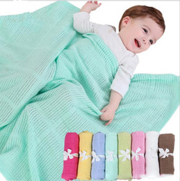 Wholesale Mechanical Photos - 70*90cm baby Blanket Knitted Crochet Sleeping Bags Toddler Newborn Photo Swaddling Nursery Bedding Stroller Cart Swaddle Robe
