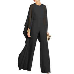 a93dbe518e batwing jumpsuits Coupons - Women Loose Chiffon Playsuit Bodysuit High  Waist Long Sleeve Batwing Sleeves Jumpsuit
