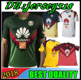 Wholesale jersey club america - 2018 2019 Liga MX mexico green club america 3rd jerseys 17 18 Club america soccer jersey DOMINGUEZ PERALTA quintero football shirt kit