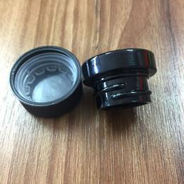 dab cera jarra contenedor Rebajas Antiadherente Dab Container 5ml tarro de cristal negro con tapa a prueba de niños para Dry Herb Wax concentrado de aceite grueso sin DHL