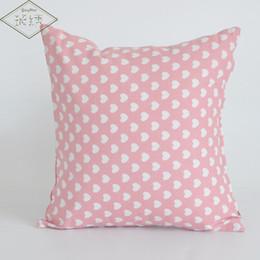 cojines de superman Rebajas Funda de almohada de lino de algodón decorativa para el hogar de 45 cm con forma de corazón lindo
