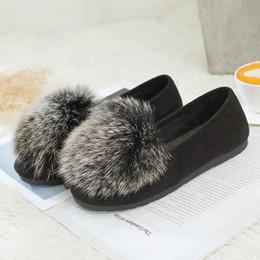 2018 nuova femmina coreano caldo autunno e inverno pigri piselli scarpe scarpe da neve piede femminile Mao Maoxie da piedi femminili coreani fornitori