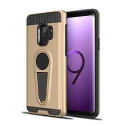 Гибридный Kickstand чехол для Samsung Galaxy A8 Plus 2018 Примечание 9 5 8 J5 J7 Prime Grand G530 автомобильный держатель магнитная крышка назад cheap back cover samsung a8 от Поставщики задняя крышка samsung a8