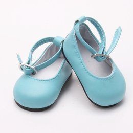 """Wholesale Baby Shoes Toys - Doll shoes ,bue sport leisure doll shoes for 18"""" inch american girl for baby gift TX-50"""