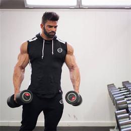 2019 fitness jacke männer Heißes 2018 Männer-Turnhallen-Kapuzenpullover-Studios Fitness-Bodybuilding-Sweatshirt Crossfit-Pullover-Sport-Kleidung-Männer Workout-Kapuzenjacke-Kleidung rabatt fitness jacke männer