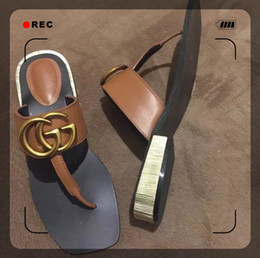 Wholesale heeled shoes one strap - 2018 summer new style cool slipper female transparent wave point Korean version of the one-word drag thick heel shoes wear women's shoes