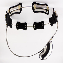Schwulen-käfig online-2018 Edelstahl Keuschheitsgürtel Model-T Keuschheitsschloss Cock Cage BDSM Sexspielzeug Für Männer Homosexuell Penis Restraint Gerät Erwachsene spiele