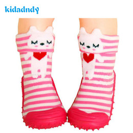 Wholesale Socks Baby Rubber Soled - 1pair Cotton Cute Design Animal Image Baby Socks With Rubber Soles Floor Sock Non Slip Newborn Toddler Shoes Socks Ws9321r